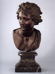 Robert Le Lorrain, Bust of Apollo 1710s Bronze, dark brown lacquer patina, height 39 cm Liechtenstein Museum, Vienna