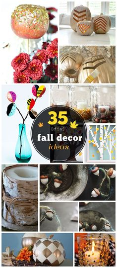 35 DIY Fall Decorating Ideas for the Home | Fall Craft Ideas for Adults