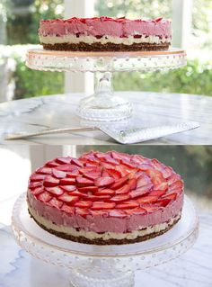 Oh How Berry Nice To Eat You! A raw cake made with cashews, strawberries and vanilla <3