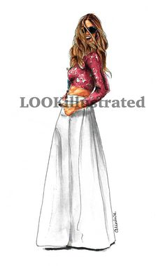 You are welcome to visit my Etsy-shop http://www.etsy.com/shop/LOOKillustrated to get a fashion illustration for yourself or loved ones!