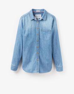 CORINNELight Chambray Shirt Denim Button Up, Button Up Shirts, Joules, Chambray, Christmas, Tops, Women, Fashion, Xmas
