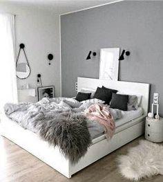 49 Trendy Bedroom Ideas For Teen Girls Dream Rooms Cozy Teen Bedroom Colors, Gray Bedroom Walls, Grey Room, Small Room Bedroom, Cozy Bedroom, Modern Bedroom, Trendy Bedroom, Master Bedroom, White Bedroom