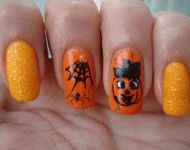 Halloween nails by Mariela Marinova #halloweennails #nails #nailart