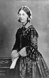 Florence Nightingale (1820-1910) was an Englishwomen famous for her nursing work in the Crimean War (1854-56). She changed the work of nurses from a mainly untrained profession to a well-respected and highly-trained medical profession at a time when women were not supposed to work outside of their home. She and her nurses changed dirty, overcrowded conditions for wounded soldiers by keeping soldiers and their environment clean and safe, dramatically dropping their death rates.