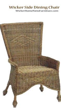 Wicker Side Dining Chair While This Side Chair Might Have Been Plucked From  An Old