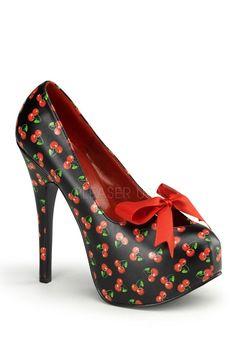 Bordello Teeze 12-6 Cherry - Burlesque und PinUp Schuh von Pleaser