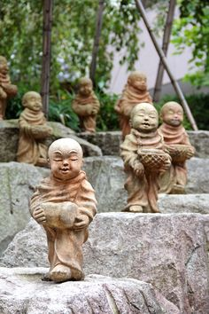Stone monks in Kyoto, Japan