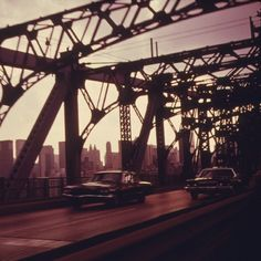 Throwback Thursday: Williamsburg Bridge in New York City is one of the great bridges that connect Brooklyn and Manhattan.  The bridge is named after Benjamin Franklin's grand-nephew, Colonel Jonathan Williams.   Photograph by Danny Lyon, July 1974.