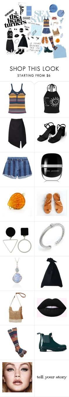 """""""turned mood"""" by haylee0110 on Polyvore featuring RVCA, Yves Saint Laurent, Marc Jacobs, EARTH TU FACE, David Yurman, Poppy Jewellery, Sun N' Sand, Free People and Tim Holtz"""
