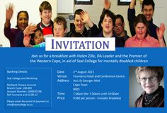 Breakfast with Helen Zille and Seal College
