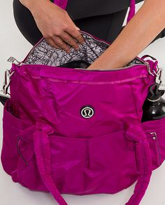 LuluLemon Triumph Tote in Dew Berry