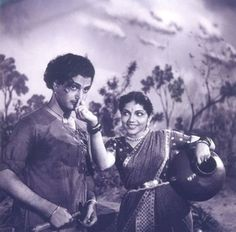 Still from Telugu classic 'Malliswari' - Bhanumati and NTR South Indian Heroine, Film World, Indian Bollywood Actress, Picture Movie, Telugu Cinema, Old Ones, Telugu Movies, In The Heart, Heroines