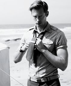 Is this Alexander Skarsgard? I cannot decide whether I want to be with him or just be him.