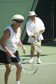 This is going to be me one of these days!!!!  Tennis is such a wonderful lifetime sport :)