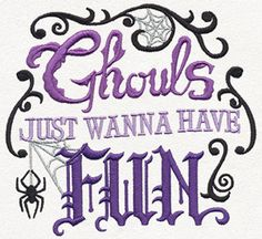 Ghouls Just Wanna Have Fun - Thread List   Urban Threads: Unique and Awesome Embroidery Designs