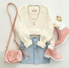 Mode With this outfit on my body and a little more makeup so else in the face, I went out of the house Deutsch Kundenspezifische Designs für Fotoalben. Teenage Outfits, Teen Fashion Outfits, Cute Fashion, Outfits For Teens, Fall Outfits, Fashion Fashion, Preteen Fashion, Female Fashion, Fashion Black