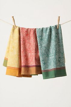 Tapestry Dishtowels - I love these dish towels from Anthropologie...I have a set in my kitchen right now...useful and pretty...and worth the price, they hold up super well...they actually get better as they get older!