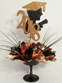 Grad Boy Head Silhouette Graduation Centerpiece – Designs by Ginny College Graduation Parties, Graduation Cap Decoration, Graduation Celebration, Graduation Party Decor, Grad Parties, Graduation Photos, Graduation Ideas, Graduation Table Centerpieces, Holidays And Events