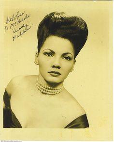 Sahji Head Shot Signed Photo (From Cotton Club Ballroom Dancer's Collection)