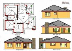 Free House Plans, Simple House Plans, House Layout Plans, Family House Plans, Bedroom House Plans, Bungalow Floor Plans, Bungalow House Design, House Floor Plans, Tuscan House Plans