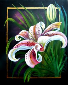 Acrylics instructional video lesson: Spring Lily by Marion Dutton at ArtTutor.