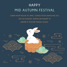 mid autumn festival with rabbit and abstract elements. Happy Mid Autumn Festival, Magazine Layout Design, Model Sketch, Autumn Activities, Japan Art, Rabbit, Illustration Art, Abstract, Drawings