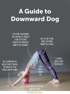 Downward dog pose helpful for strengthening of the bones