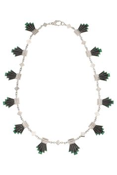 Enamel Green Tip Vienna Necklace | Gillian Steinhardt Jewelry