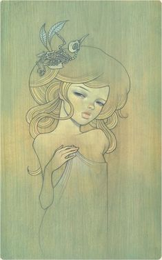 Aisai 2 Oil on Wood 8x12 Four Dreams - Compound Gallery 2006 (jg) © Audrey Kawasaki 2004 - 2013
