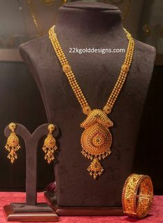 Pendant Jewelry, Gold Jewelry, Gold Necklace, Bridal Necklace, India Jewelry, Temple Jewellery, Gold Bangles Design, Indian Jewellery Design, Gold Haram