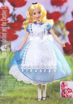 Alice in Wonderland Disney Princess Fashion, Disney Princess Dolls, Disney Inspired Outfits, Disney Princess Dresses, Disney Dresses, Disney Barbie Dolls, Bad Barbie, Mattel Dolls, Blue And White Tights