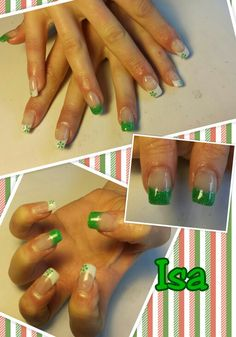 Verde...Uñas de gel Romina en Facebook