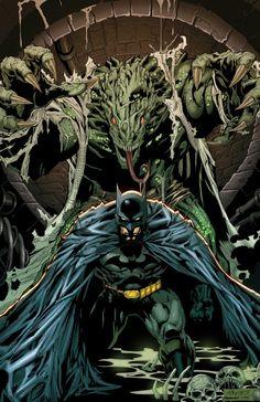 Batman Vs. Killer Croc 11x17 Digital Print by PROSSCOMICS on Etsy