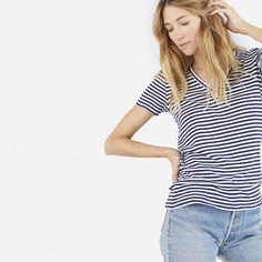 Medium Stripe V-Neck
