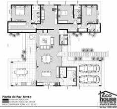 Another excellent plan. So many windows I might need sunglasses to eat breakfast. Modern House Floor Plans, Pool House Plans, House Layout Plans, Dream House Plans, Small House Plans, Modern House Design, Layouts Casa, House Layouts, Home Design Plans
