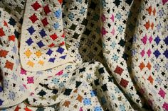 French vintage crocheted afghan from gipsyplaid on Etsy