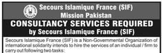 #Jobs in Secours Islamique France Mission #Pakistan for Consultancy Services
