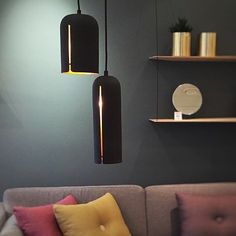 GAP pendants softly spreading the light at @nordiskrom The lamps are designed for @wouddesign ___________________________ #NurDesign #StudioNur #Woud #WoudDesign #GAPpendant #Light #Lamp #Pendant #Lampe #DanishDesign #Homedecor #ScandinavianDesign #Livingroom #Lampara #Bolig by nur_design
