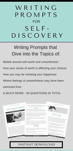 Writing Prompts for self-discovery and personal growth. Begin your journey of growth today! Writing prompts, writing prompts for adults, personal growth, personal development. Writing Prompts For Writers, Writers Write, Writing Tips, Writing Help, Creative Writing, Self Development, Personal Development, Mental Health Journal, Journal Prompts