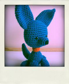 blauw hondje