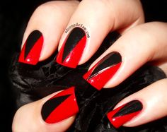 Little red riding hood nails rednails blacknails red black red and black and pointy the adorned claw urmus Images