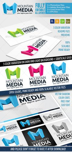 Montaine Media - Logo Template - Letters Logo Templates
