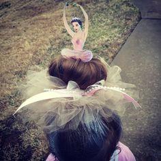 Crazy hair day: ballerina