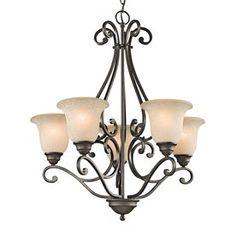 Kichler Lighting Camerena 27-In 5-Light Olde Bronze Mediterranean Shad