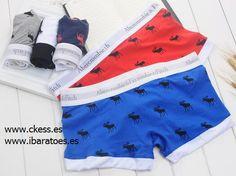 AF de los hombres calzoncillos ciervo brama cómodos transpirable T bolso convexo de algodón de la cintura boxeadores rojos calzoncillos M