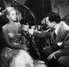 """Marilyn Monroe and director Joseph Mankiewicz on the set of """"All About Eve"""", Anne Baxter, Marilyn Monroe Movies, Marylin Monroe, Joan Crawford, Joseph L Mankiewicz, American Realism, American Artists, Social Realism, All About Eve"""