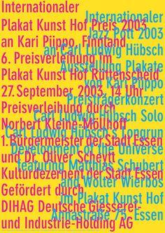 Niklaus Troxler, 2003 - Plakat Kunst Hof