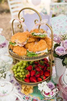 Kara's Party Ideas Vintage Tea Party - - Won't you join me for a cup of tea? Kara's Party Ideas has a gorgeous and ethereal Vintage Tea Party with tons of ideas to use your Cricut! Girls Tea Party, Tea Party Theme, Tea Party Birthday, Party Party, Food For Tea Party, Tea Party Recipes, Tea Party Foods, Tea Party Menu, Garden Party Foods