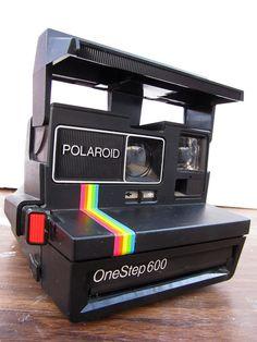 Cámara polaroid de la vendimia