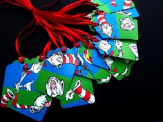 Dr Seuss Cat in the Hat Gift Tags by FlipSidesCreations on Etsy, $3.00
